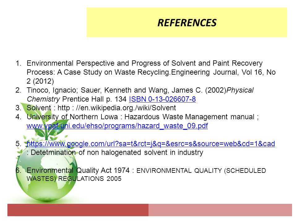 Management And Safety Of Toxic Substances Non Halogenated Solvent Ppt Download
