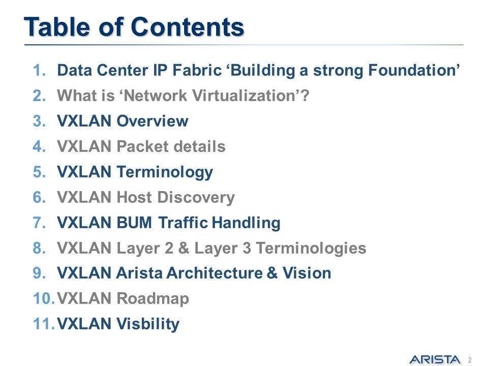 Table of Contents Data Center IP Fabric 'Building a strong Foundation'