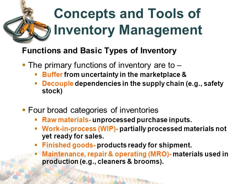 primary tools in inventory management