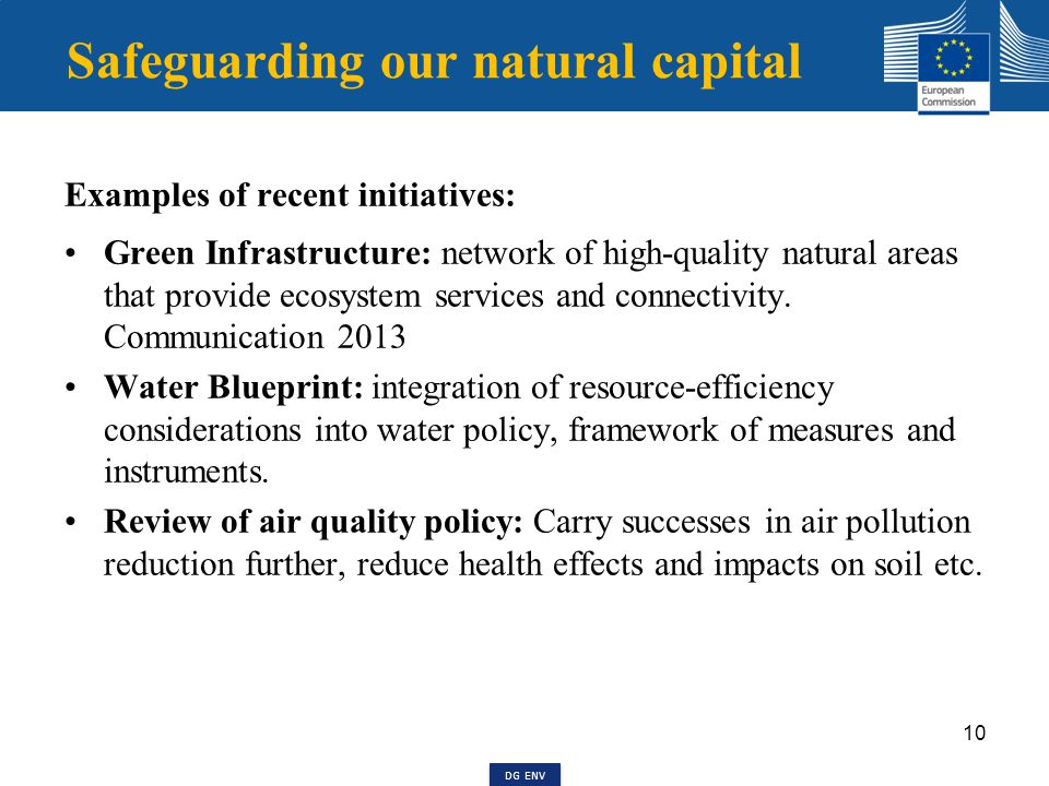 Green economy package, 2014 Review of targets in the area of waste management and improvements in implementation.