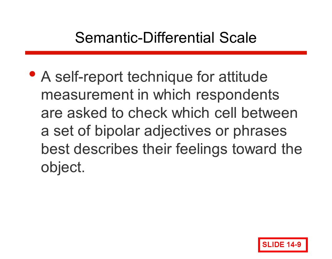 Semantic-Differential Scale