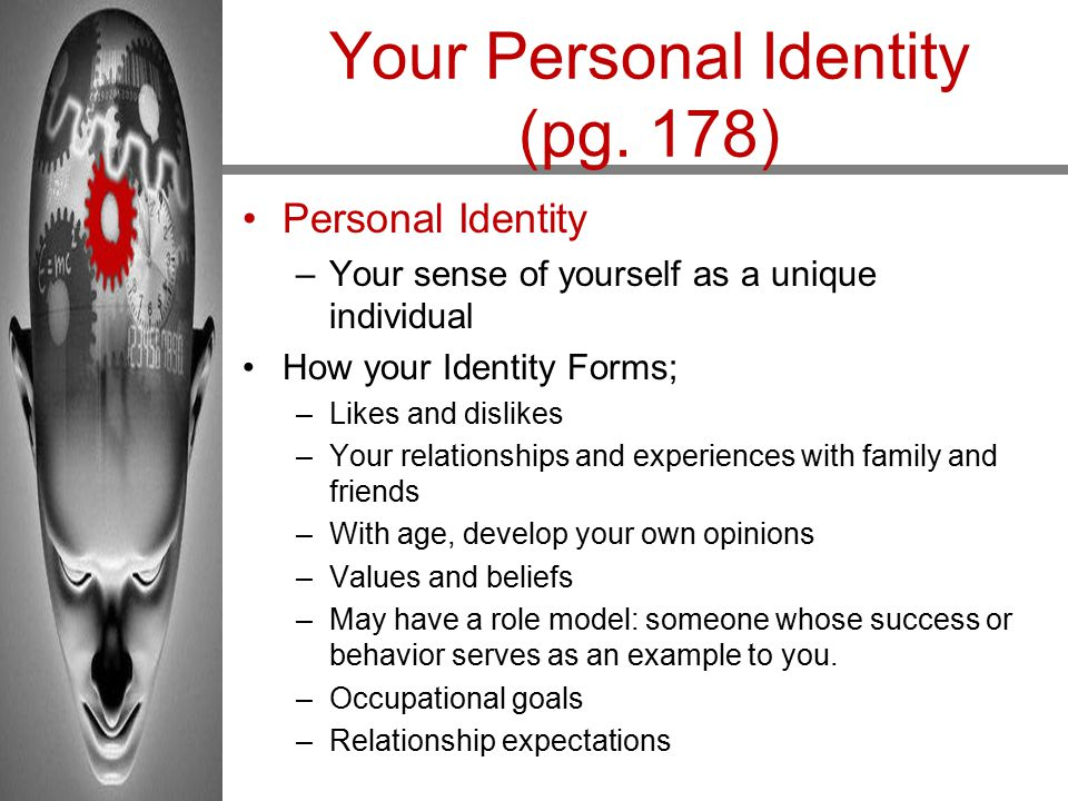 Your Personal Identity (pg. 178)