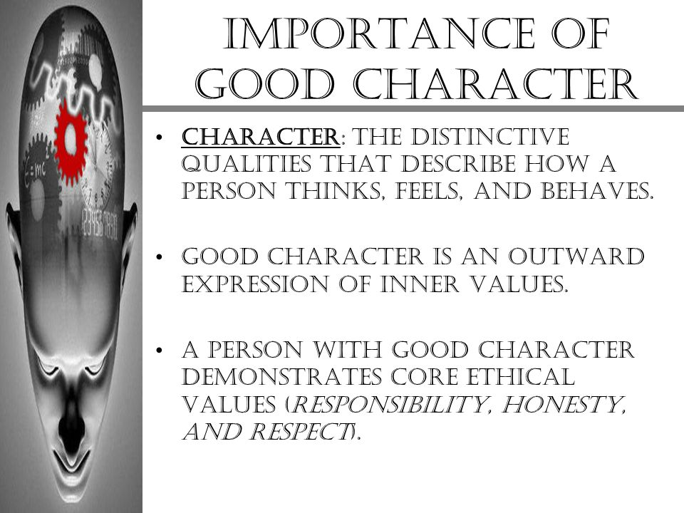 Importance of good character