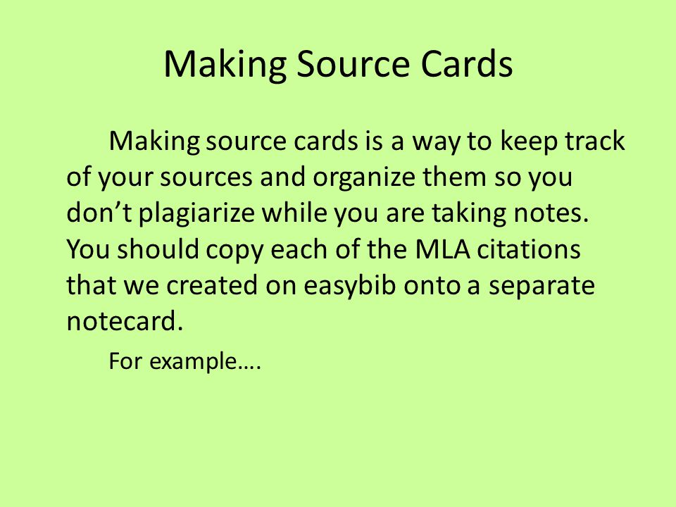 Mla Notecard Format Example Images Example Cover Letter For Resume