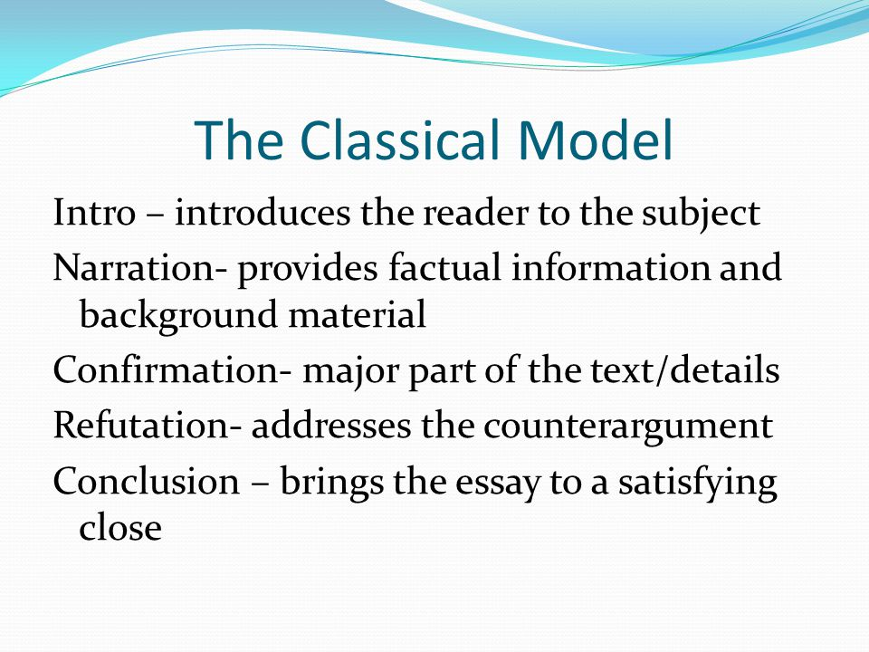The Classical Model Intro – introduces the reader to the subject