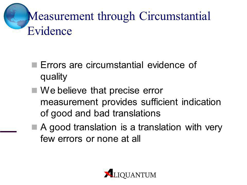 Measurement through Circumstantial Evidence