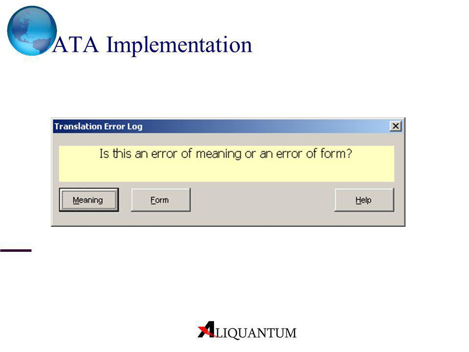 ATA Implementation