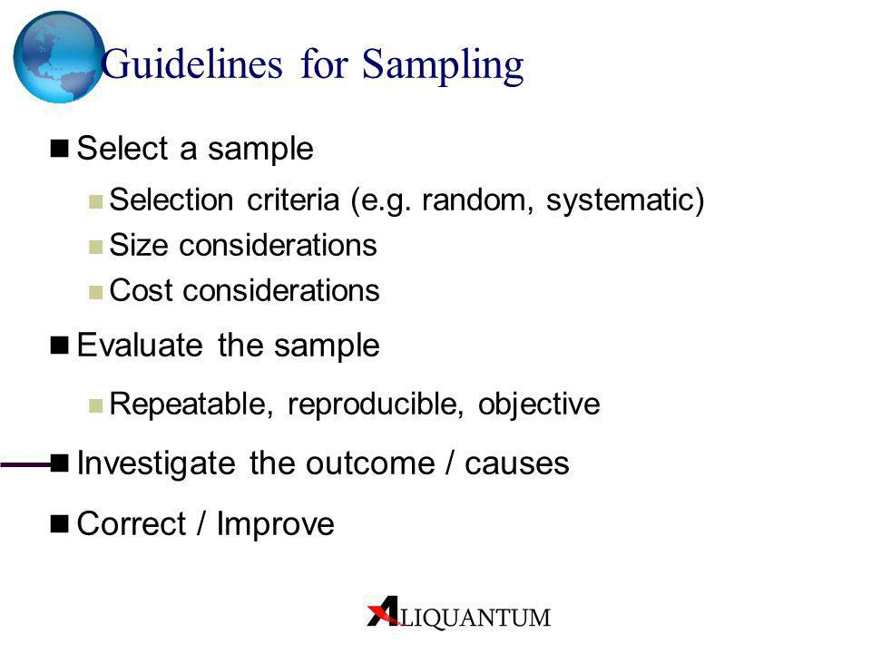 Guidelines for Sampling