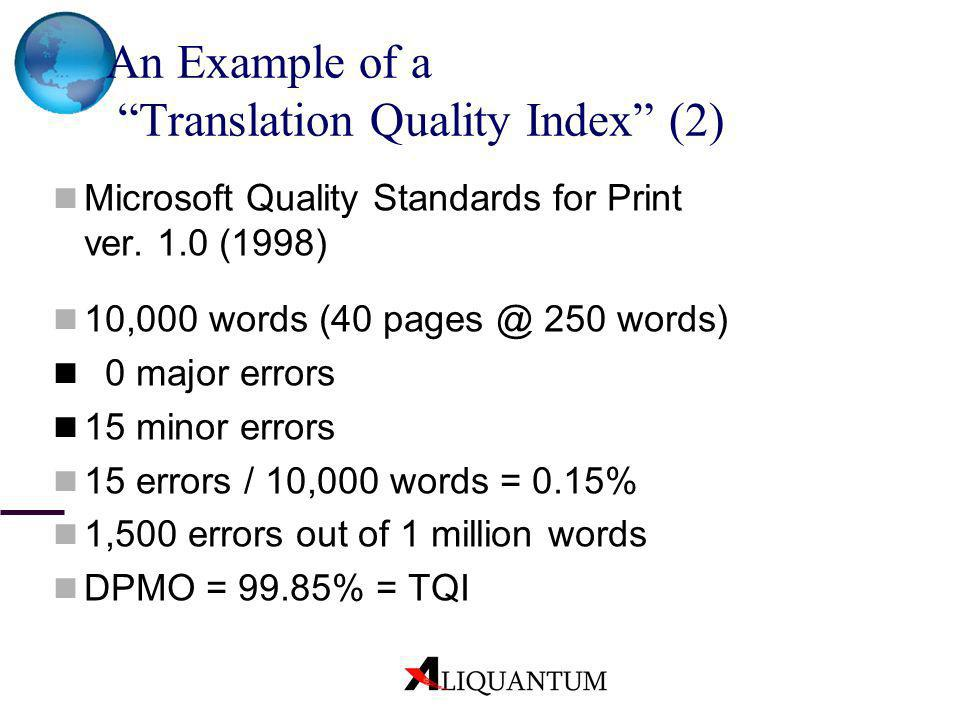 An Example of a Translation Quality Index (2)