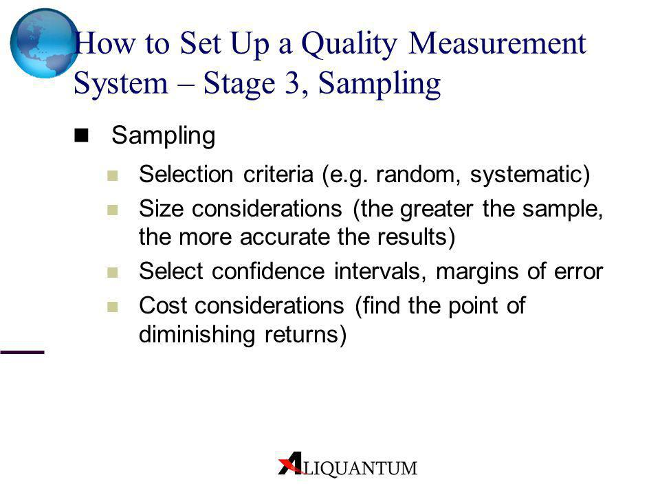 How to Set Up a Quality Measurement System – Stage 3, Sampling