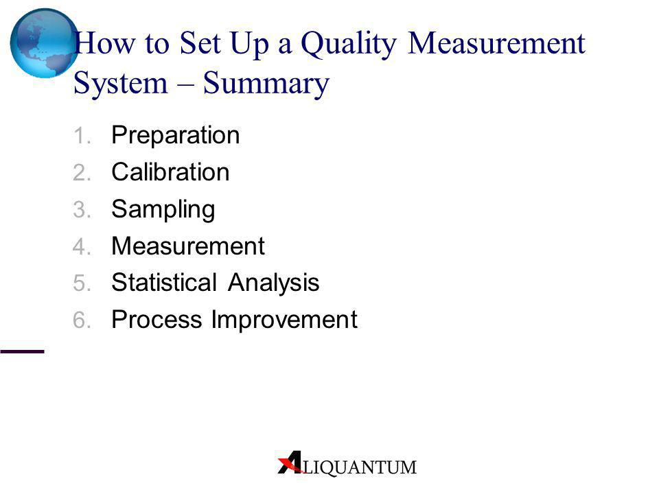 How to Set Up a Quality Measurement System – Summary
