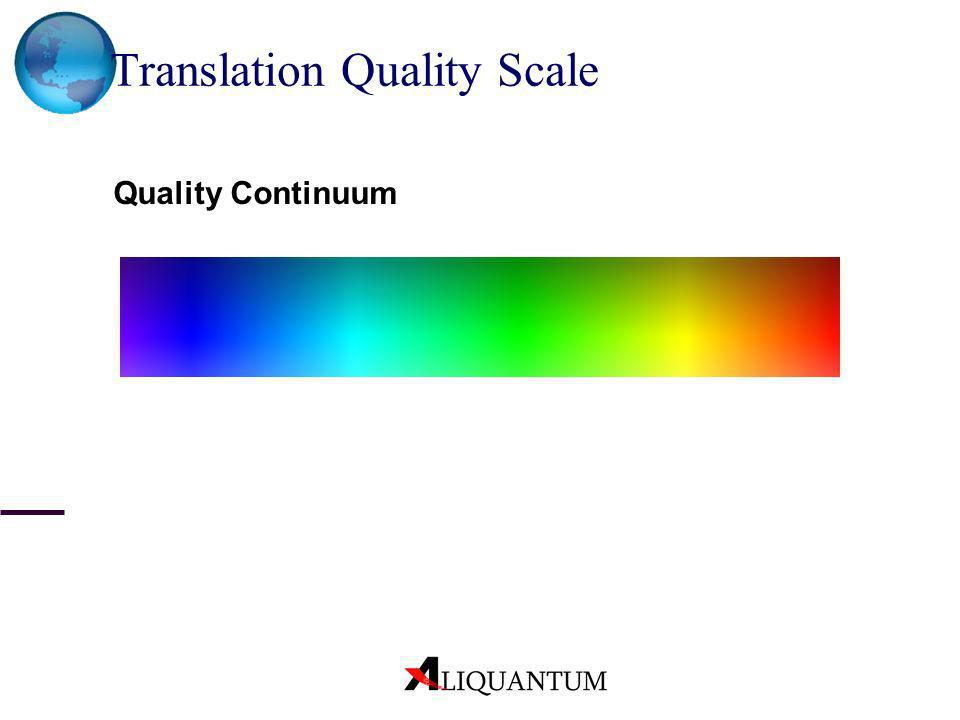 Translation Quality Scale