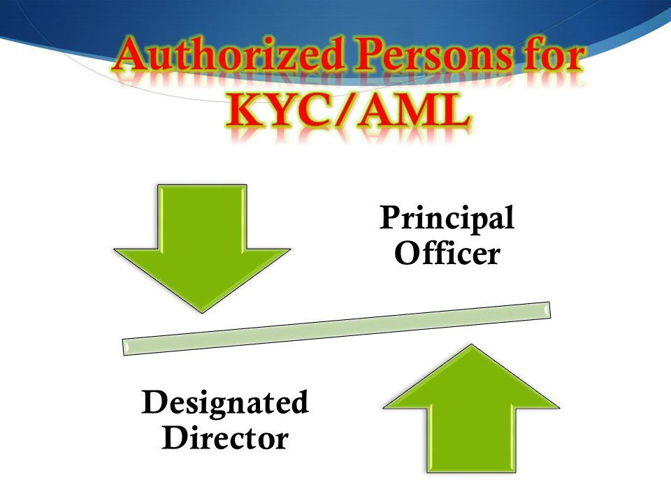 Authorized Persons for KYC/AML
