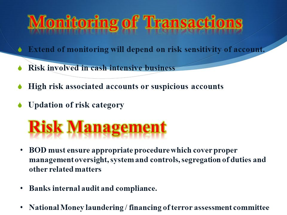 Monitoring of Transactions