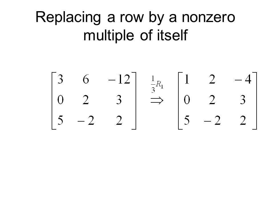 Replacing a row by a nonzero multiple of itself