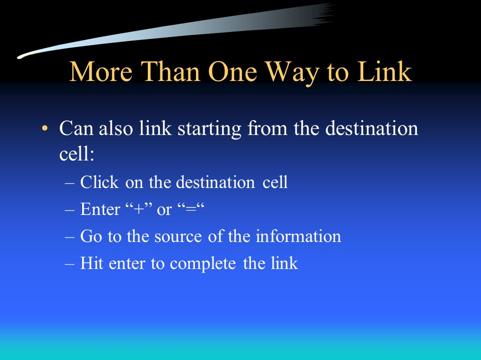 More Than One Way to Link