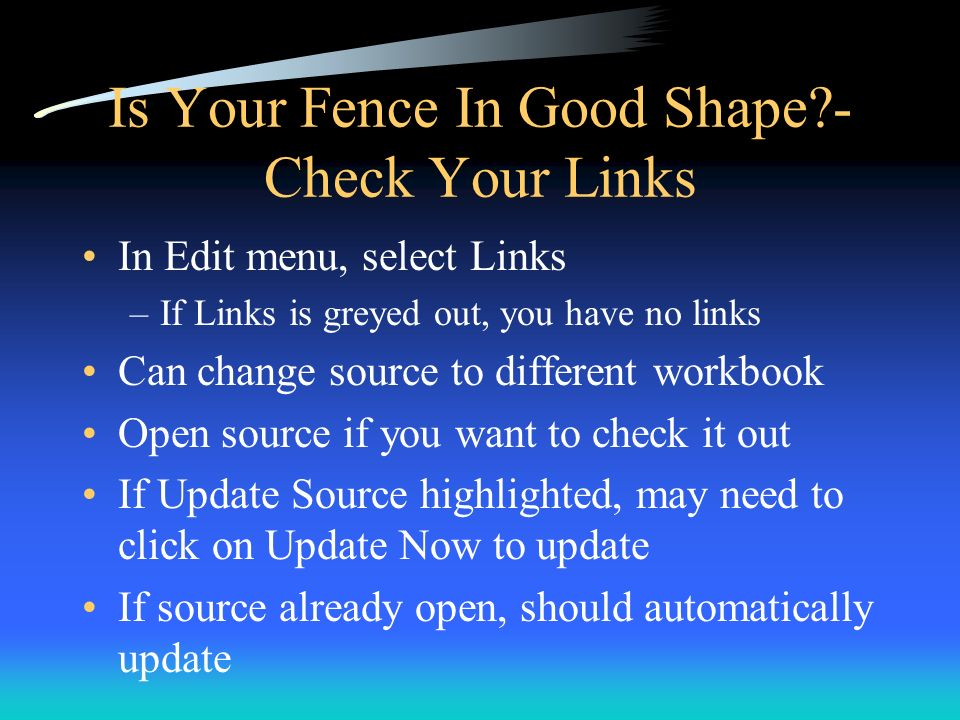 Is Your Fence In Good Shape - Check Your Links