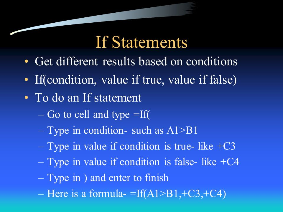 If Statements Get different results based on conditions