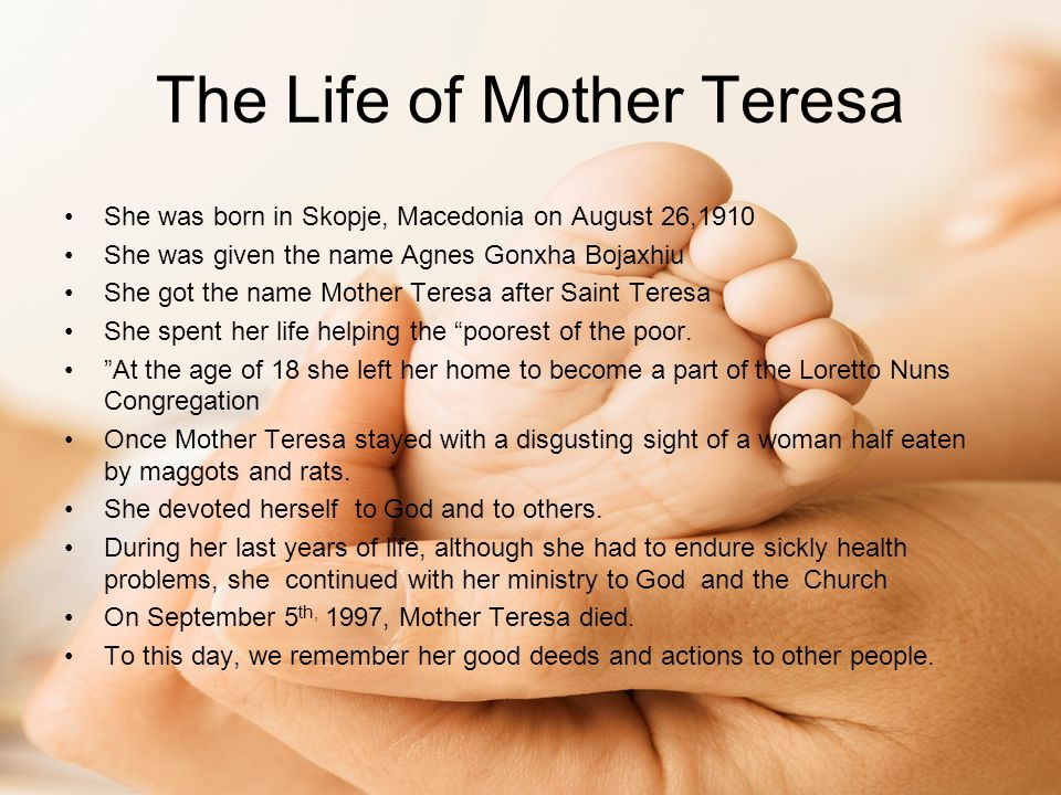 The Life of Mother Teresa