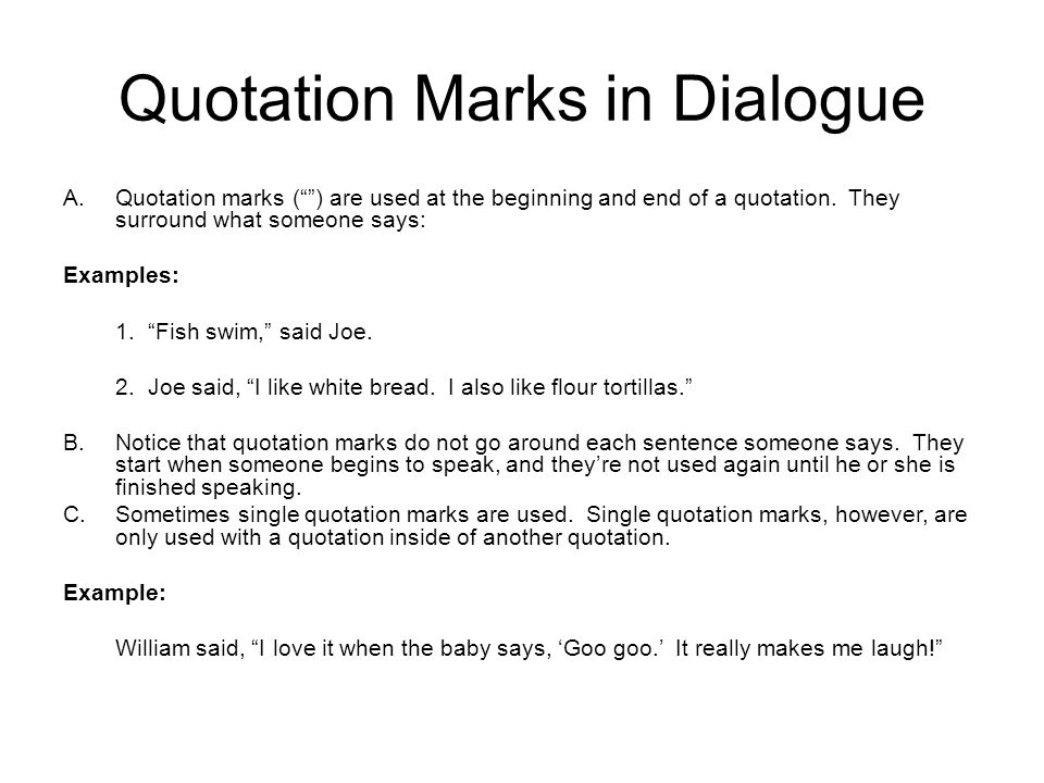 Mini Lesson Punctuating Dialogue Ppt Download