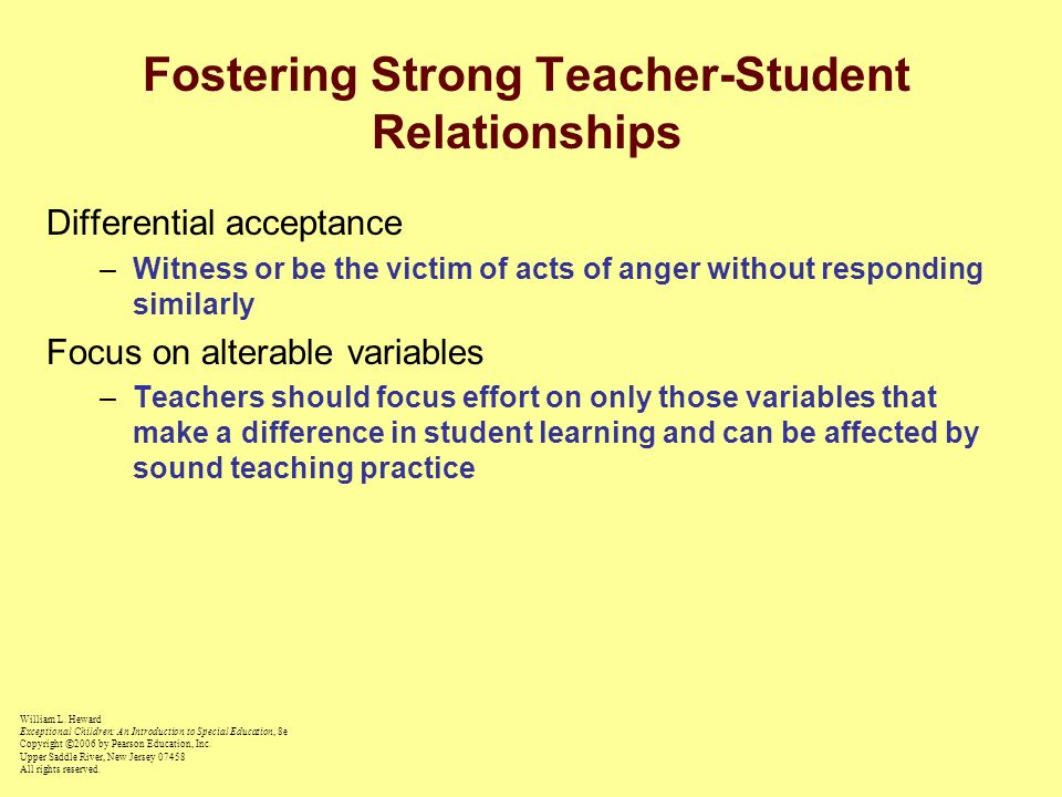 Fostering Strong Teacher-Student Relationships