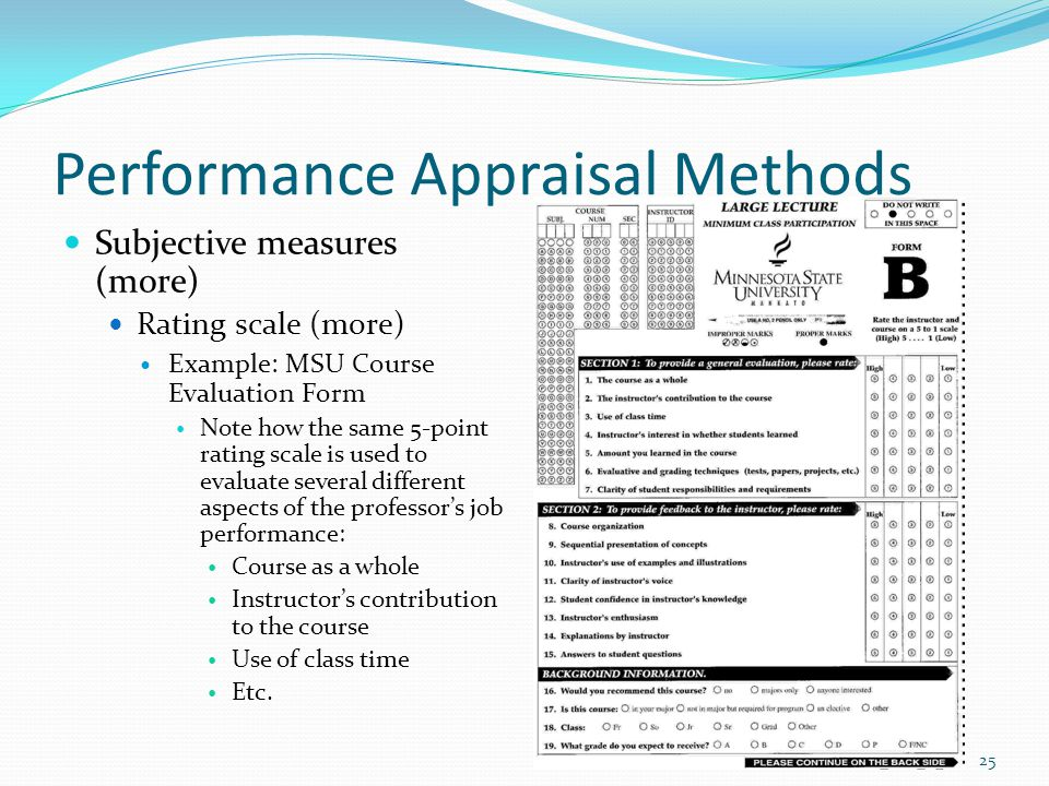 Performance appraisal rating scales.
