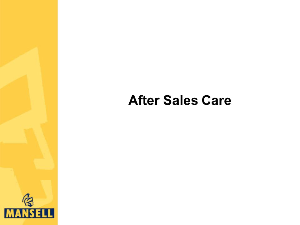 After Sales Care