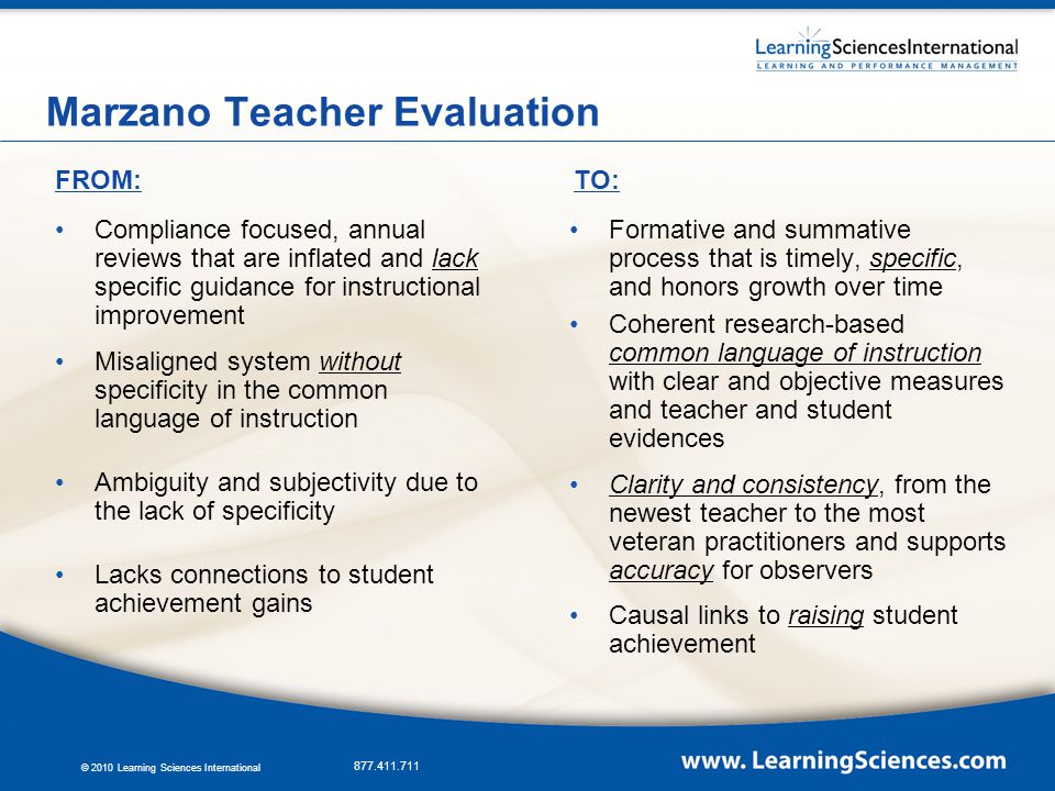 Marzano Causal Teacher Evaluation Model Ppt Video Online Download