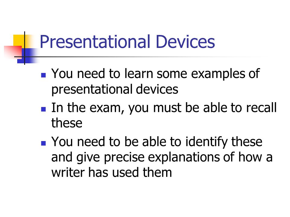 Presentational Devices