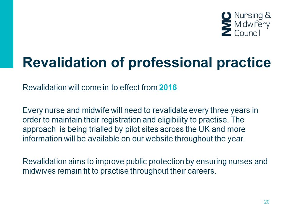 Revalidation of professional practice