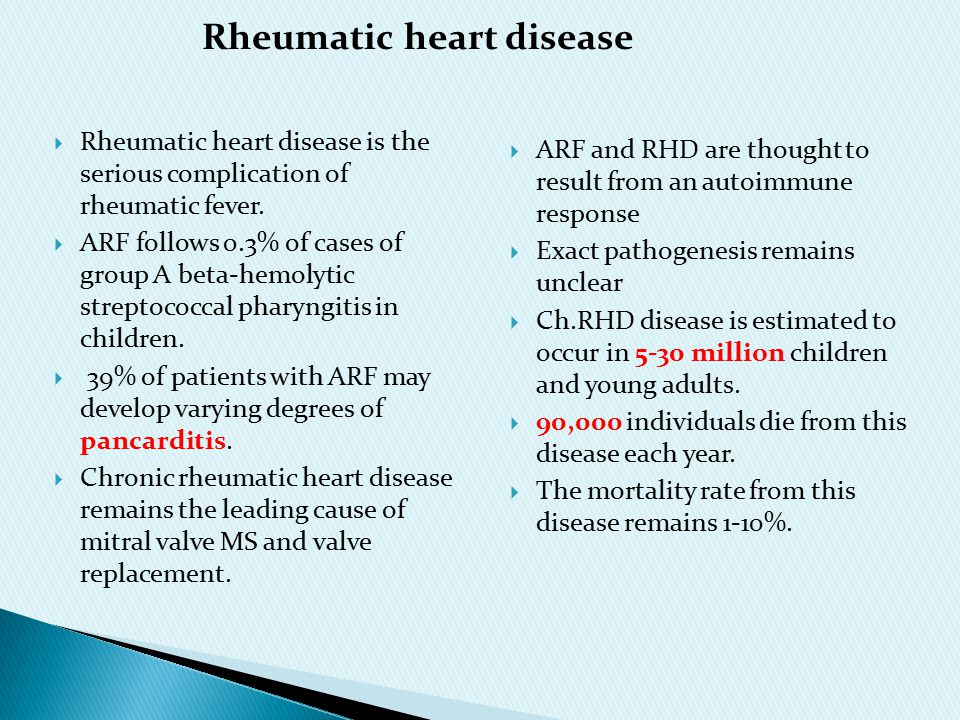 Opinion you rheumatic fever adult