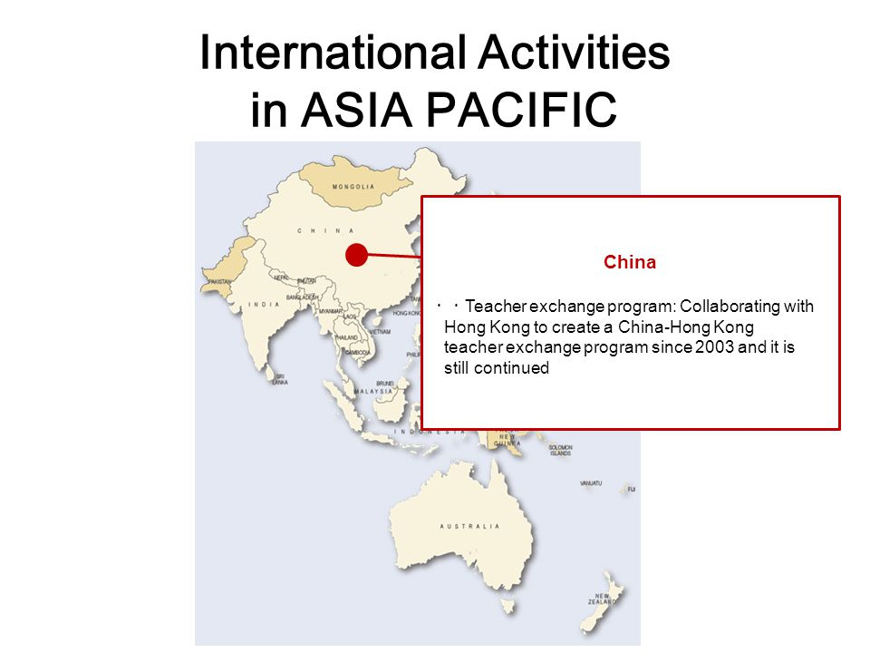 International Activities in ASIA PACIFIC