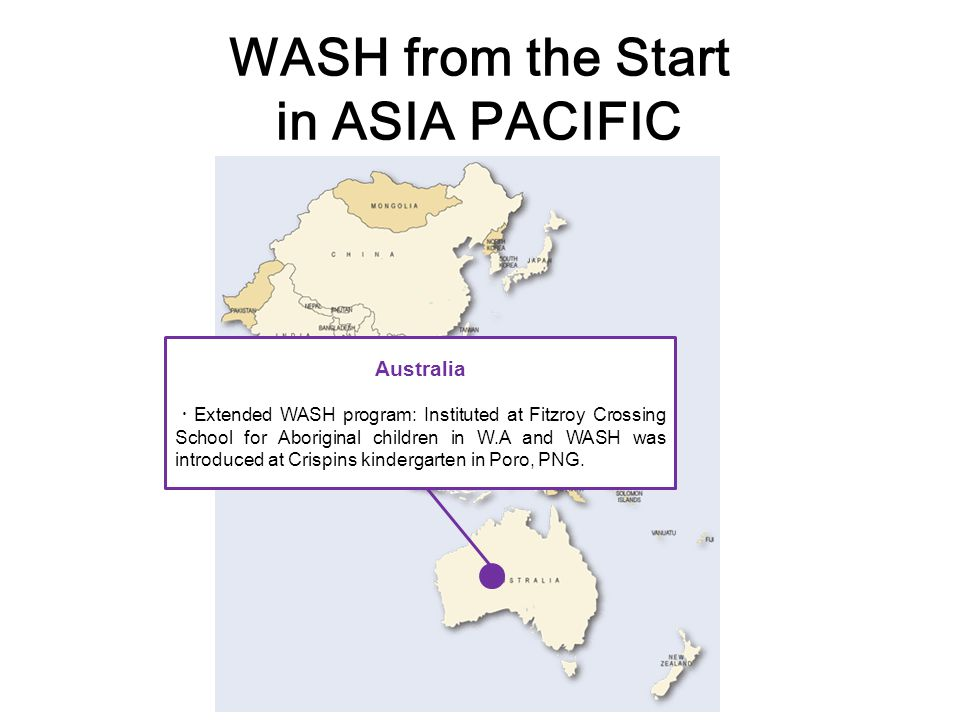 WASH from the Start in ASIA PACIFIC