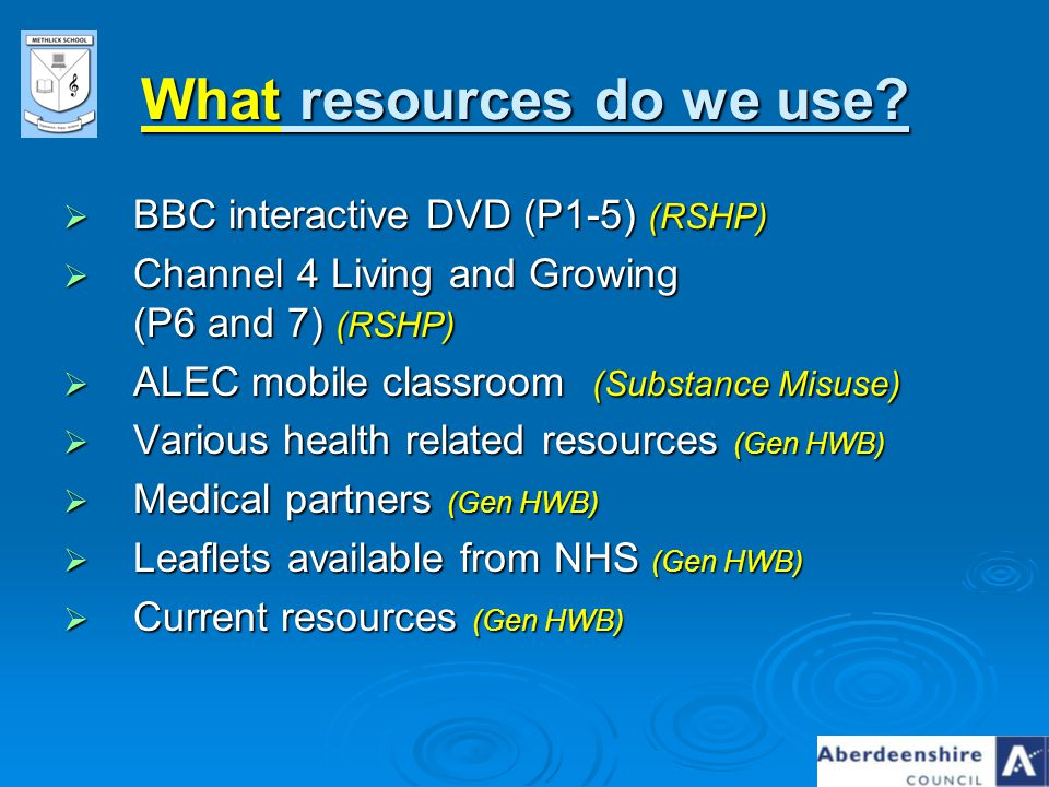 What resources do we use