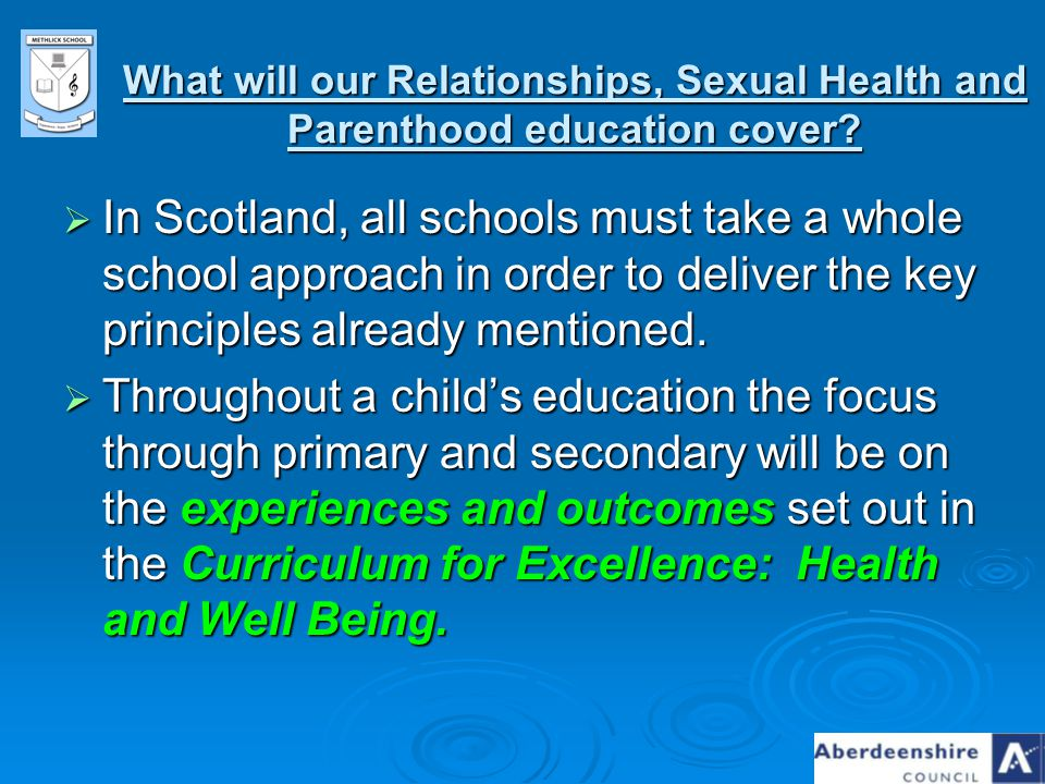 What will our Relationships, Sexual Health and Parenthood education cover