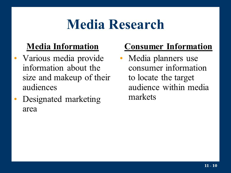 Media Research Media Information