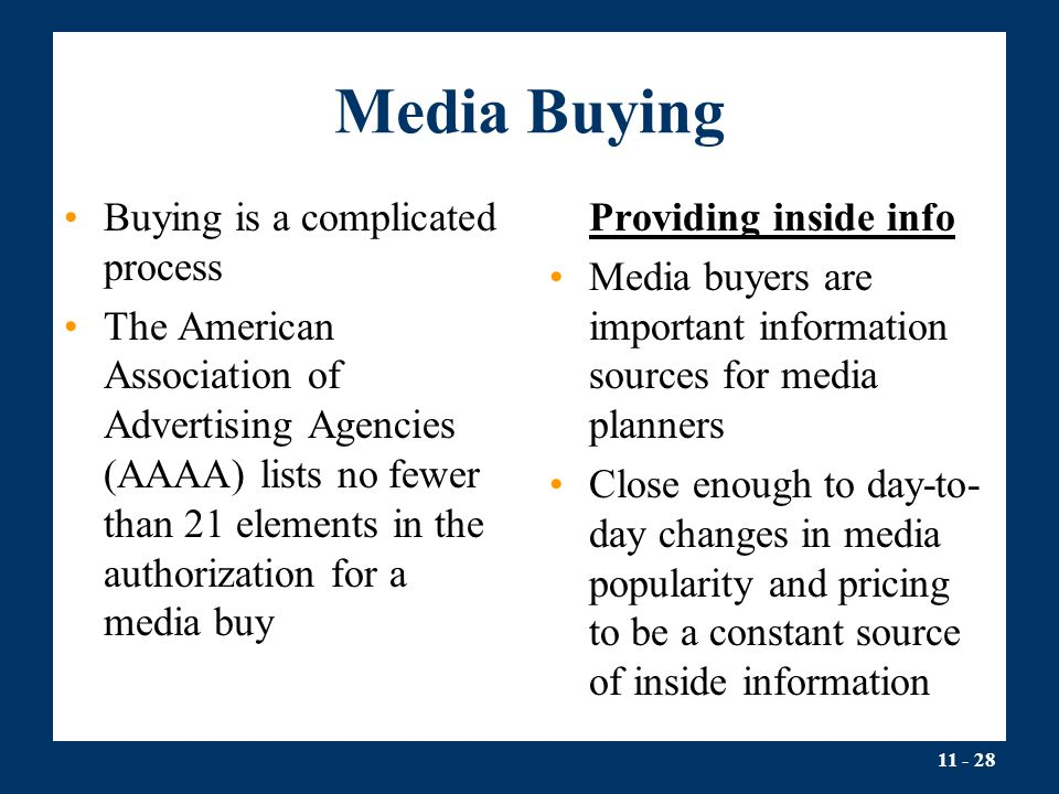 Media Buying Buying is a complicated process