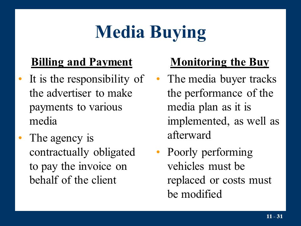 Media Buying Billing and Payment