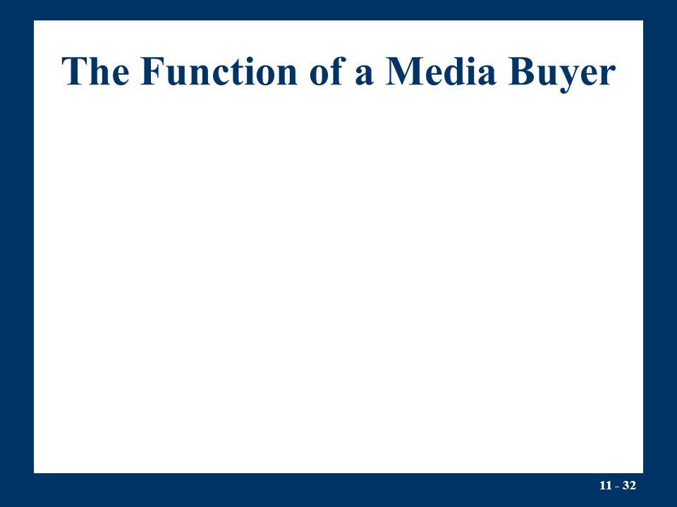 The Function of a Media Buyer