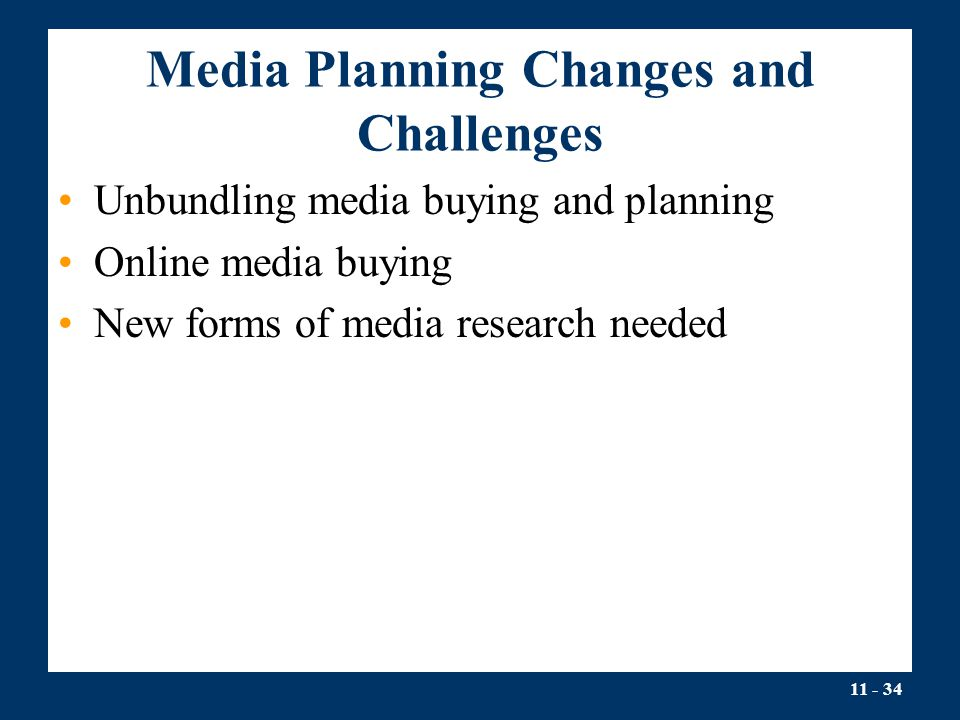 Media Planning Changes and Challenges