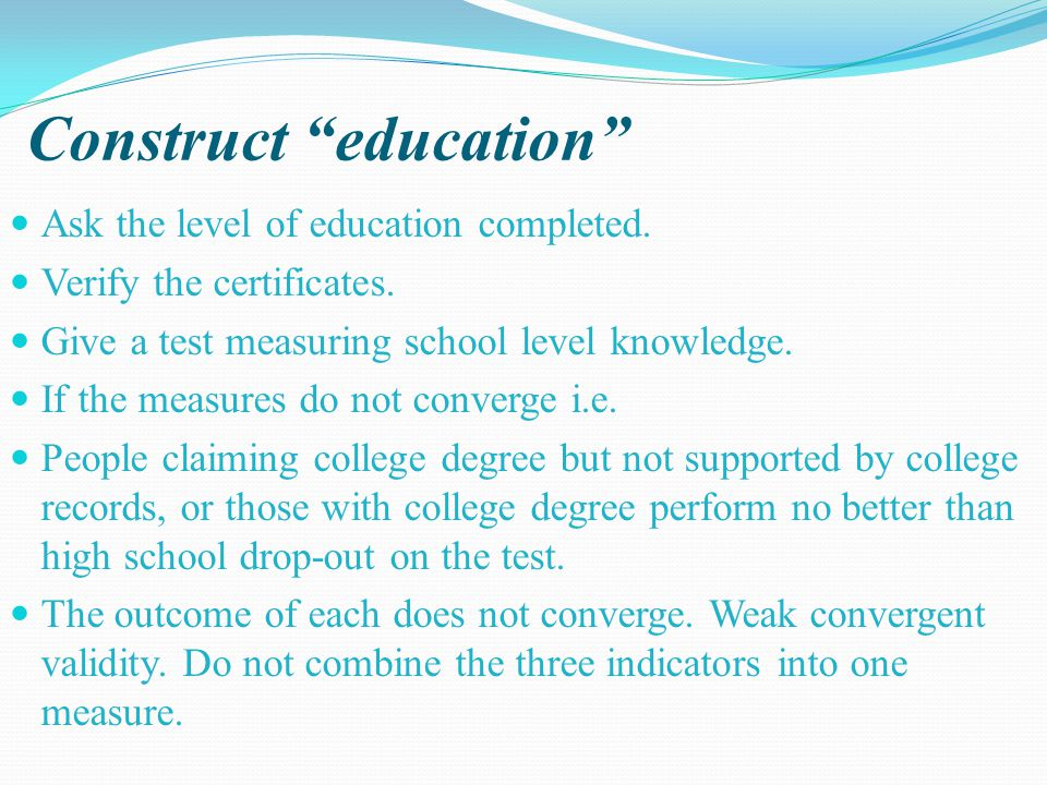 Construct education