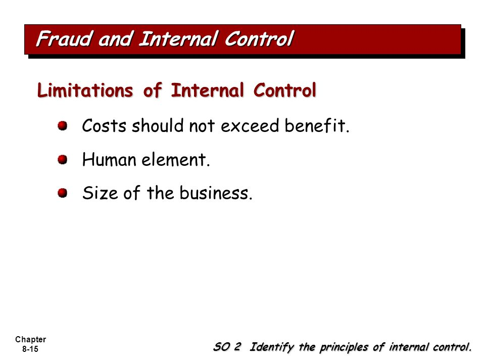Fraud and Internal Control
