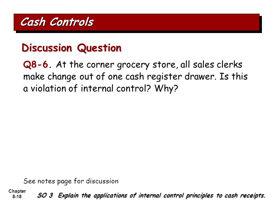 Cash Controls Discussion Question