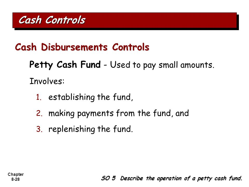 Cash Controls Cash Disbursements Controls