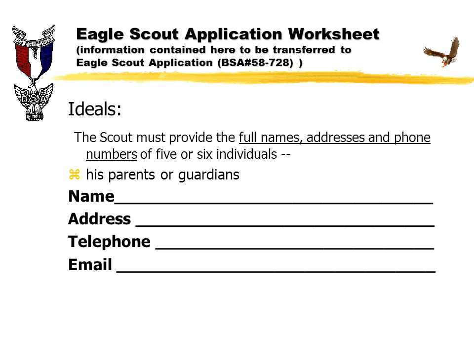 Eagle Scout Application Ppt Download
