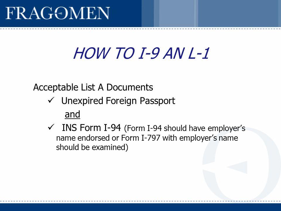 employment eligibility verification (form i-9) compliance - ppt