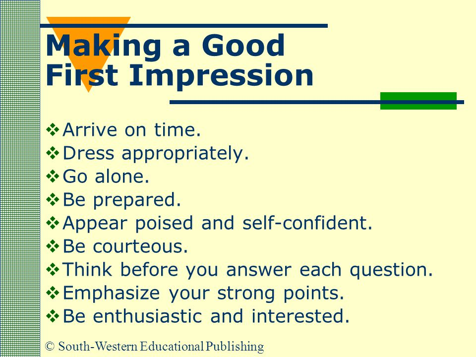 Making a Good First Impression