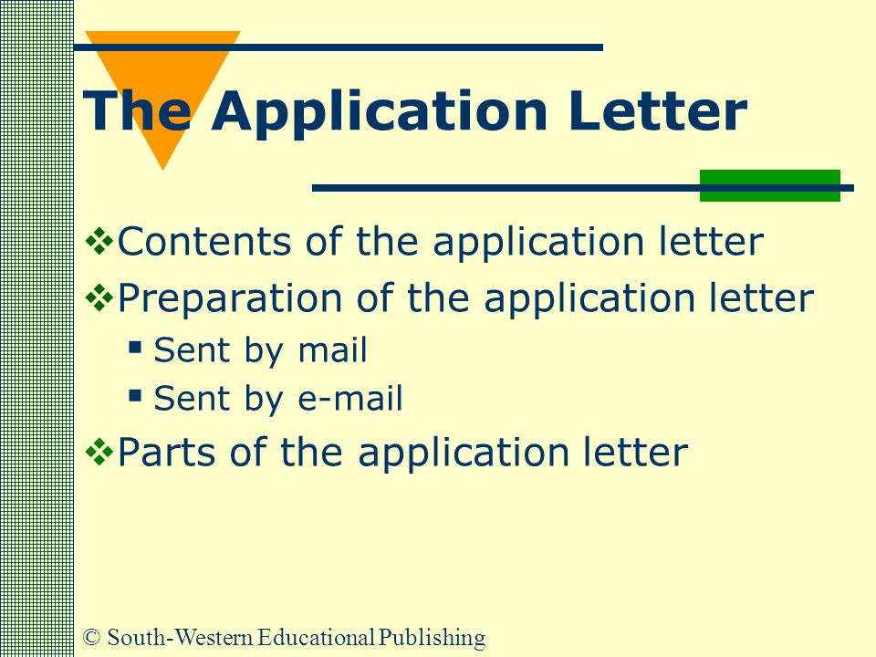 The Application Letter