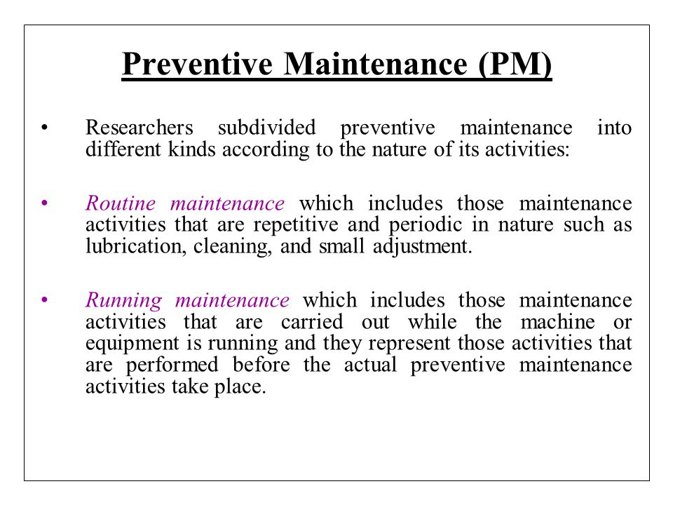 Maintenance Definition - ppt video online download