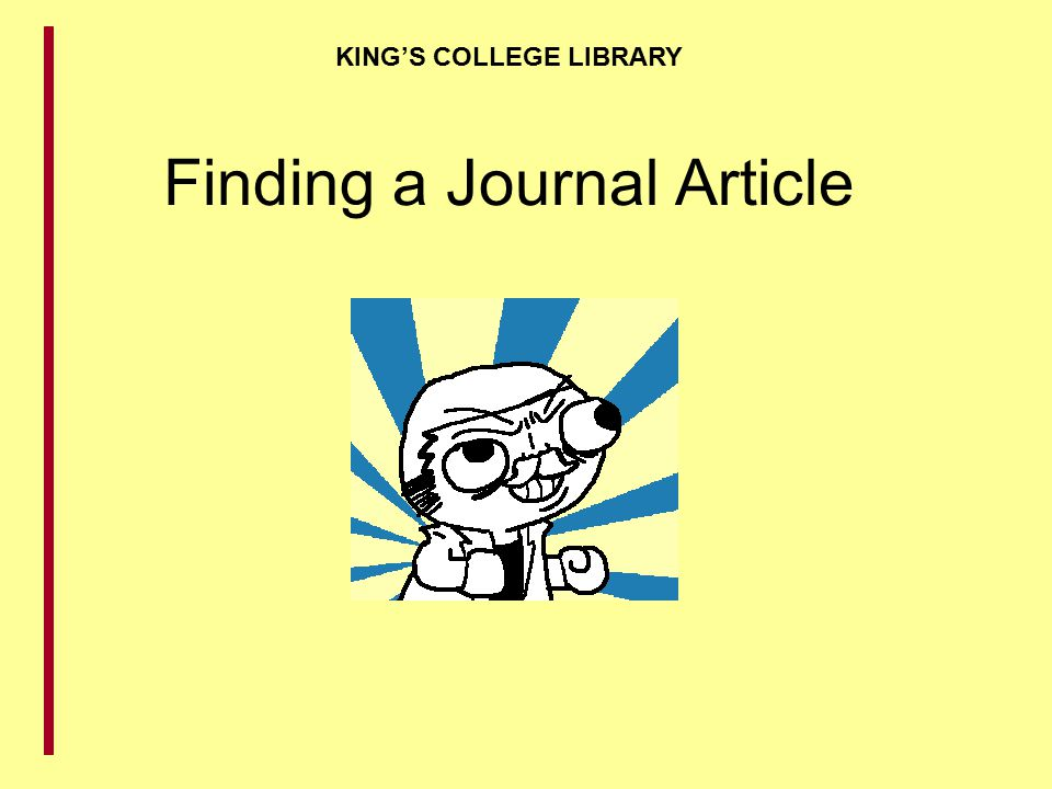 Finding a Journal Article